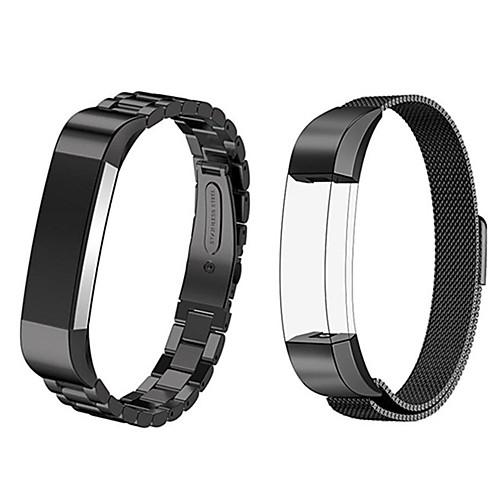 Ремешок для часов для Fitbit Alta HR / Fitbit Alta Fitbit Миланский ремешок Нержавеющая сталь Повязка на запястье черный usb кабель для зарядки fitbit заряда для fitbit гибкой силы 2