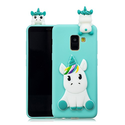 Case For Samsung Galaxy A8 Plus 2018 / A8 2018 DIY Back Cover Unicorn Soft TPU for A5(2018) / A7(2018) / A3(2017)