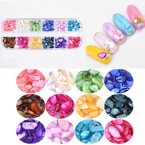 1 pcs Украшения для ногтей Изысканный и современный / модный Дизайн ногтей / Формы для ногтей Стразы для ногтей На каждый день Изысканный и современный / модный Модный дизайн / Цветной