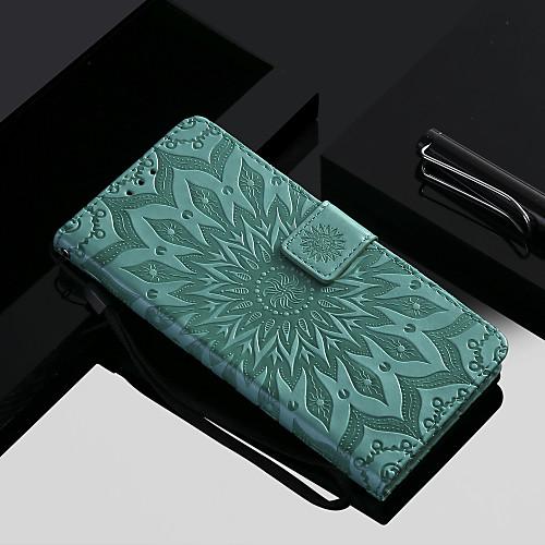 Кейс для Назначение OnePlus OnePlus 6 / OnePlus 5T Кошелек / Бумажник для карт / со стендом Чехол Цветы Твердый Кожа PU для OnePlus 6 / One Plus 5 / OnePlus 5T фото