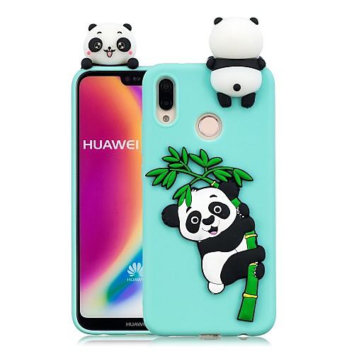 Кейс для Назначение Huawei P20 Pro / P20 lite Своими руками Кейс на заднюю панель Панда Мягкий ТПУ для Huawei P20 / Huawei P20 Pro / Huawei P20 lite смартфон huawei p20 lite