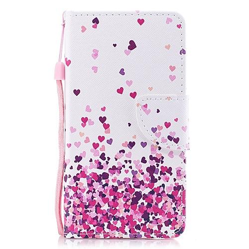 Кейс для Назначение Apple iPhone 6 Plus Кошелек / Бумажник для карт / Флип Чехол С сердцем Твердый Кожа PU для iPhone 6s Plus / iPhone 6 Plus защитный чехол для iphone 6 plus 6s plus с отделением для банковских карт