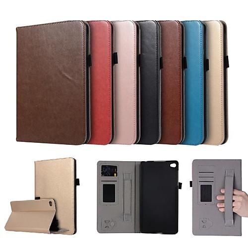 Кейс для Назначение Huawei MediaPad M2 8.0 Бумажник для карт / со стендом / Магнитный Чехол Однотонный Твердый Кожа PU для Huawei MediaPad M2 8.0