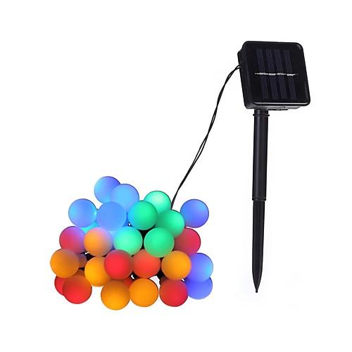 4.6м Гирлянды 20 светодиоды ДИП светодиоды Тёплый белый / Разные цвета Работает от солнечной энергии / Декоративная Солнечная энергия 1шт светодиоды