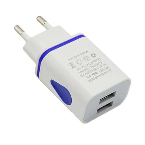 Portable Charger USB Charger EU Plug Multi-Output 2 USB Ports 2.1 A 100~240 V for