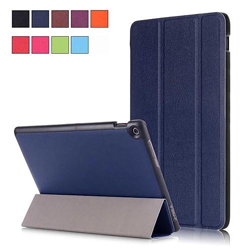 Кейс для Назначение Asus ZenPad 10 Z301MFL / ZenPad 10 Z300CL со стендом / Магнитный Чехол Однотонный Твердый Кожа PU для ASUS ZenPad 10 Z301ML / ASUS ZenPad 10 Z301MFL / ASUS ZenPad 10 Z301MF фото
