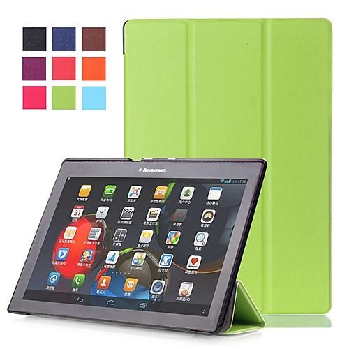 Кейс для Назначение Lenovo Вкладка Lenovo 2 A10-30F / L (TB2-X30) / Lenovo Tab 2 X30F / M со стендом / Магнитный Чехол Однотонный Твердый Кожа PU для Lenovo Tab 2 A10-70 / Lenovo Tab 2 X30F / M case for lenovo tab2 a10 30 pu leather tablet case for 10 1inch lenovo tab 2 a10 30 a10 70 tab3 x70 tab2 x30f m stylus