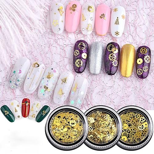 1 pcs Ультратонкий / Панк Украшения для ногтей Модный дизайн / Вырезы / обожаемый Дизайн ногтей / Формы для ногтей