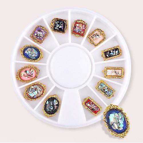 1 pcs Бутик / Геометрический рисунок Украшения для ногтей Модный дизайн / Цветной Дизайн ногтей / Формы для ногтей