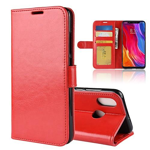 Кейс для Назначение Xiaomi Mi 8 / Mi 8 SE Кошелек / Бумажник для карт / Флип Чехол Однотонный Твердый Кожа PU для Redmi Note 5A / Xiaomi Redmi Note 5 Pro / Xiaomi Redmi Примечание 5 xiaomi redmi note5a 4гб 64гб китайская версия