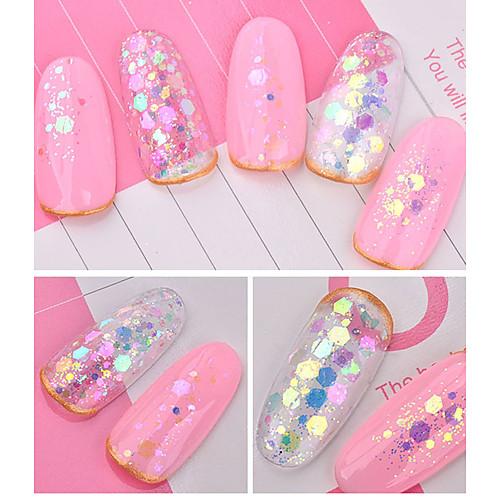 1 pcs Роскошное сияние / Стиль Украшения для ногтей / Гель для ногтей Модный дизайн / обожаемый Дизайн ногтей / Формы для ногтей