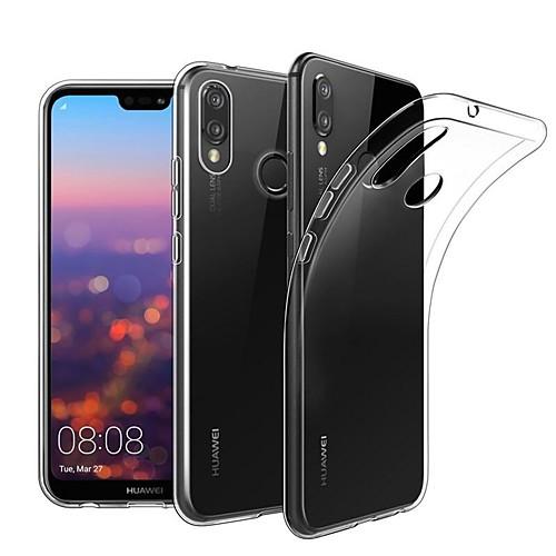 Кейс для Назначение Huawei P20 Pro / P20 lite Прозрачный Кейс на заднюю панель Однотонный Мягкий ТПУ для Huawei P20 / Huawei P20 Pro / Huawei P20 lite кейс для назначение huawei p20 pro p20 lite защита от удара прозрачный кейс на заднюю панель однотонный мягкий тпу для huawei p20 huawei p20 pro huawei p20 lite