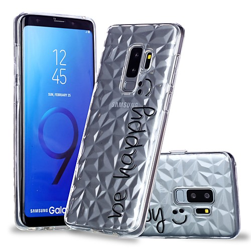 Кейс для Назначение SSamsung Galaxy S9 Plus / S9 Прозрачный / С узором Кейс на заднюю панель Слова / выражения Мягкий ТПУ для S9 / S9 Plus / S8 Plus фото