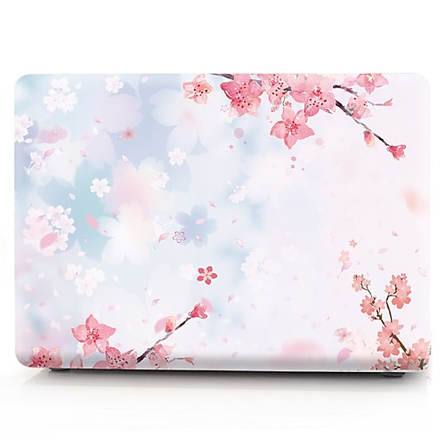 MacBook Кейс Цветы пластик для Новый MacBook Pro 15 / Новый MacBook Pro 13 / MacBook Pro, 15 дюймов case for macbook pro 13 15 12 retina air 11 13 touch bar a1706 a1707 a1708 matte oil print cover left brain marble wood laptop
