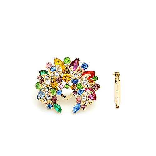 Women's Brooches Stylish Flower Sweet Fashion Brooch Jewelry Assorted Color For Date Street