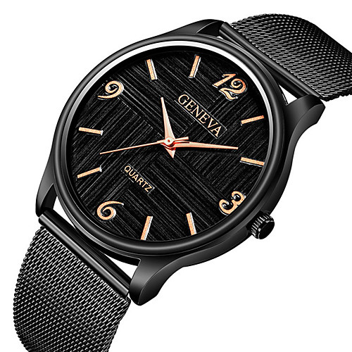 Men's Dress Watch Wrist Watch Quartz Black / Silver Chronograph Creative New Design Analog Classic Vintage Casual - Silver / Black Black / White Black / Rose Gold One Year Battery Life / Tianqiu 377