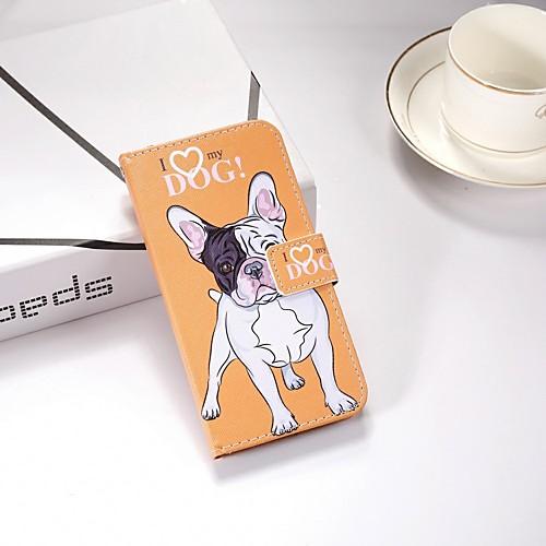 Кейс для Назначение Nokia Nokia 5.1 / Nokia 3.1 Кошелек / Бумажник для карт / со стендом Чехол С собакой Твердый Кожа PU для Nokia 6 2018 / Nokia 5 / Nokia 5.1 фото