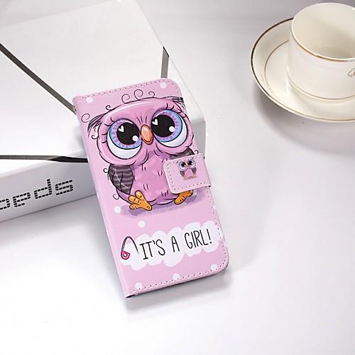 Кейс для Назначение Nokia Nokia 5.1 / Nokia 3.1 Кошелек / Бумажник для карт / со стендом Чехол Животное Твердый Кожа PU для Nokia 6 2018 / Nokia 5 / Nokia 5.1 фото