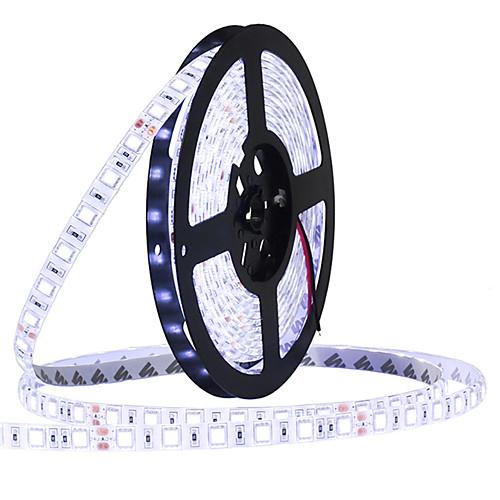 HKV 5 метров Гибкие светодиодные ленты 300 светодиоды 5050 SMD Тёплый белый / Холодный белый / Синий Можно резать / Компонуемый / Самоклеющиеся 12 V цена