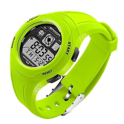 miniinthebox / SANDA Hombre Mujer Reloj Deportivo Reloj digital Japonés Digital Silicona Negro / Rojo / Verde 30 m Resistente al Agua Calendario Cronómetro Digital Dibujos Moda - Verde Rosa Azul Claro