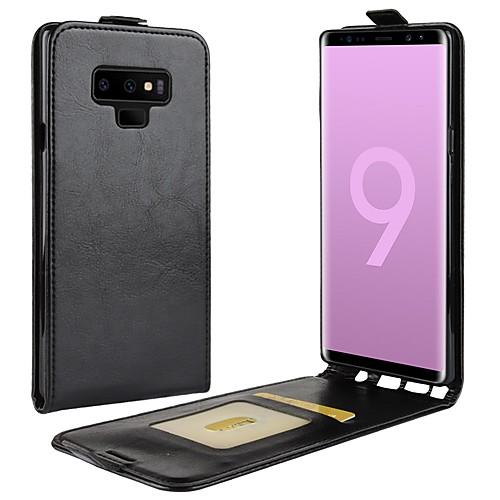Кейс для Назначение SSamsung Galaxy Note 9 / Note 8 Бумажник для карт / Флип / Магнитный Чехол Однотонный Твердый Кожа PU для Note 9 / Note 8 фото