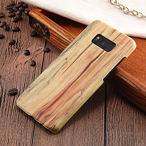 Case For Samsung Galaxy S8 Plus / S8 Ultra-thin Back Cover Wood Grain Hard PC for S8 Plus / S8 / S7 edge