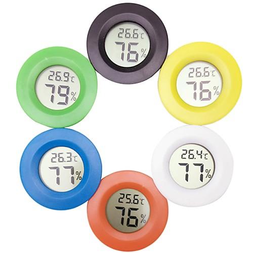 Мини цифровой термометр электронный гигрометр круглый измеритель температуры и влажности тестер для аквариума с морозильной камерой холодильник фото