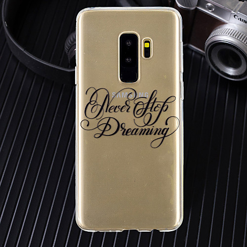 Case For Samsung Galaxy S9 Plus / S8 Plus Ultra-thin / Transparent / Pattern Back Cover Word / Phrase Soft TPU for S9 / S9 Plus / S8 Plus