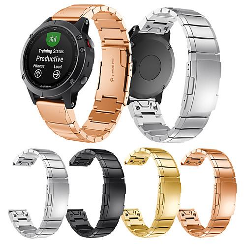 Ремешок для часов для Fenix 5 Garmin Классическая застежка Металл / Нержавеющая сталь Повязка на запястье фото
