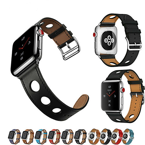 Watch Band for Apple Watch Series 4/3/2/1 Apple Classic Buckle / Leather Loop Genuine Leather Wrist Strap