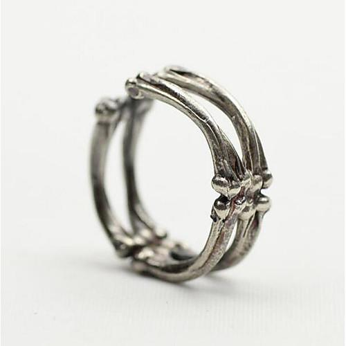 Муж. Старинный Открытое кольцо Серебрянное покрытие Креатив Винтаж Панк Модные кольца Бижутерия Серебряный Назначение Рождество Halloween Регулируется