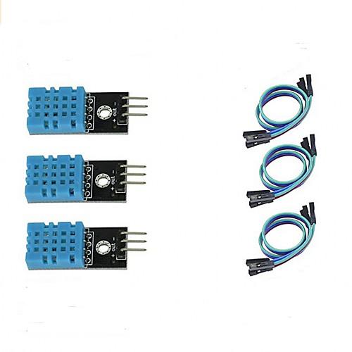 3pcs DHT11 Temperature and Humidity Sensor Module for Arduino Raspberry Pi 2 3