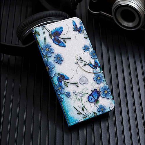 Кейс для Назначение Huawei Y6 (2018) / Y6 (2017)(Nova Young) Кошелек / Бумажник для карт / со стендом Чехол Бабочка Твердый Кожа PU для Huawei Y6 (2018) / Huawei Y6 (2017)(Nova Young) / Huawei Y5 фото