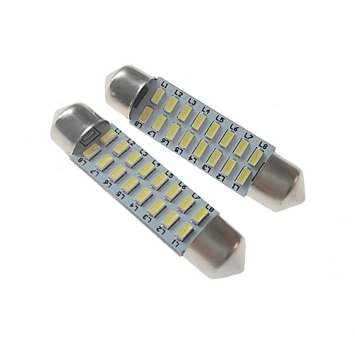 SENCART 2pcs 41mm Автомобиль Лампы 3 W SMD 3014 120-160 lm 16 Светодиодная лампа Внутреннее освещение / Внешние осветительные приборы Назначение