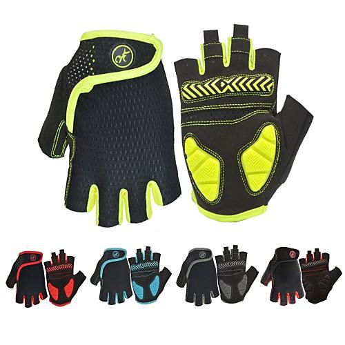Спортивные перчатки Перчатки для велосипедистов Дышащий / Пригодно для носки / Нескользящий Без пальцев силикагель Велосипедный спорт / Велоспорт Муж. / Жен.