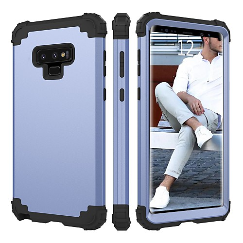 BENTOBEN Кейс для Назначение SSamsung Galaxy Note 9 Защита от удара Чехол Однотонный Твердый Силикон / ПК для Note 9