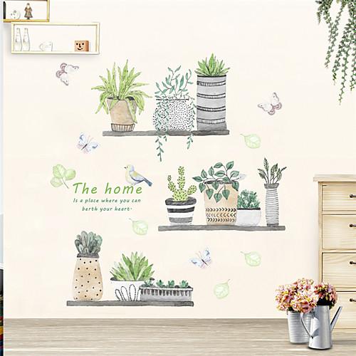 Декоративные наклейки на стены - Простые наклейки Цветочные мотивы / ботанический В помещении фото