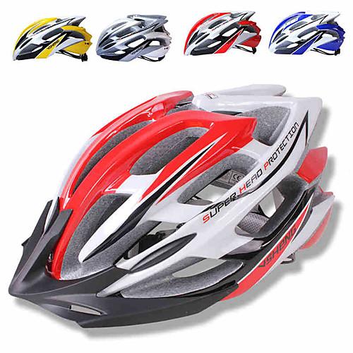 Взрослые Мотоциклетный шлем 15 Вентиляционные клапаны PC (поликарбонат) Виды спорта Велосипедный спорт / Велоспорт / Мотобайк - Красный / Синий / Серый Муж. / Жен.