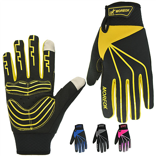 Спортивные перчатки Перчатки для велосипедистов / Перчатки для сенсорного экрана Водонепроницаемость / Дышащий / Сохраняет тепло Полный палец Кожа PU / сверхтонкие волокна