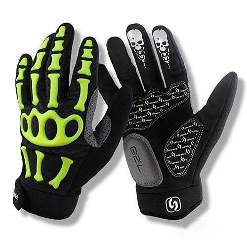 SPAKCT Спортивные перчатки Перчатки для велосипедистов Дышащий / Anti-Shake / Нескользящий Полный палец сверхтонкие волокна / Силиконовый гель Велосипедный спорт / Велоспорт Муж. / Жен.