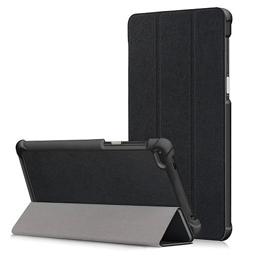 Кейс для Назначение Lenovo Tab 7 Защита от пыли / Флип / Авто Режим сна / Пробуждение Чехол Однотонный Твердый Кожа PU для Lenovo Tab 7