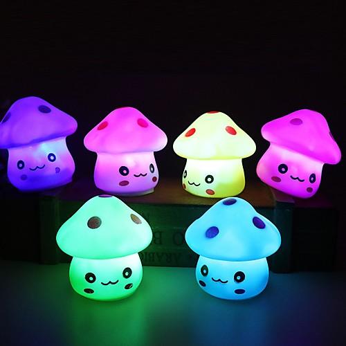 1pc вел свет ночи цветной грибной комнаты стол прикроватная лампа для малышей дети рождественские подарки случайный цвет