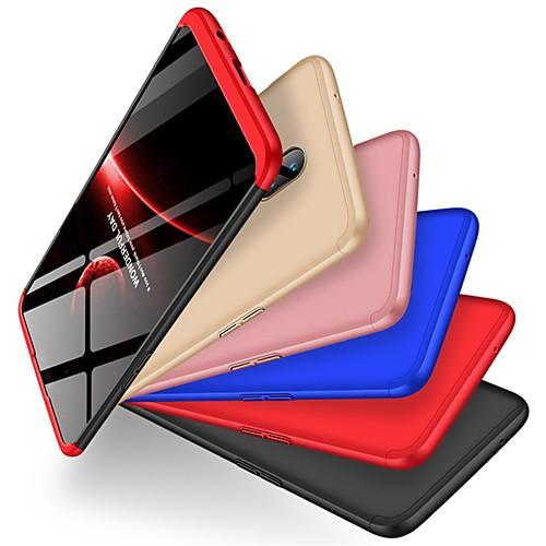 Кейс для Назначение OnePlus OnePlus 6 Защита от удара / Матовое Кейс на заднюю панель Однотонный Твердый ПК для OnePlus 6