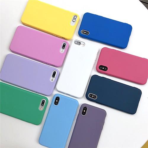 Чехол для яблока iphone xr xs xs max матовая задняя крышка сплошной мягкий мягкий тпу для iphone x 8 8 plus 7 7plus 6s 6s plus se 5 5s фото
