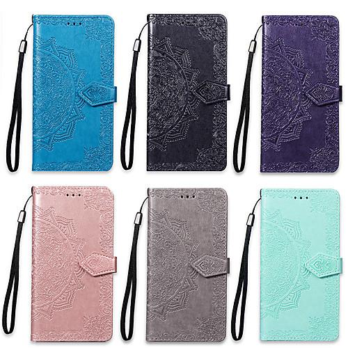 Кейс для Назначение Nokia Nokia 7 Plus / Nokia 3.1 Кошелек / Бумажник для карт / со стендом Чехол Мандала Твердый Кожа PU для Nokia 7 Plus / Nokia 5.1 / Nokia 3.1 фото