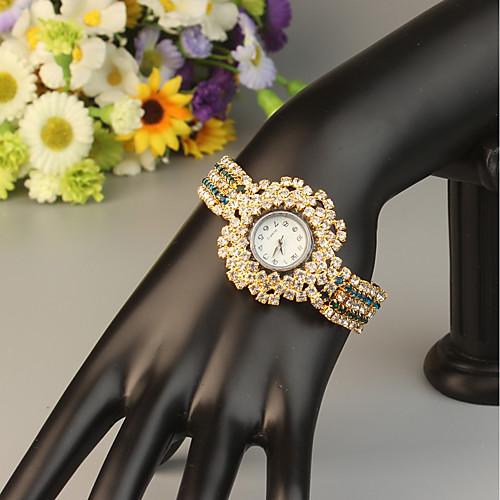 FEIS Жен. Часы-браслет Кварцевый Золотистый Секундомер Аналого-цифровые Дамы Мода - Синий Золотистый Темно-синий фото