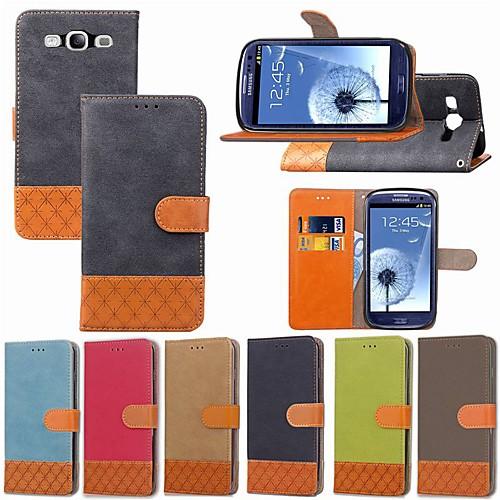 Кейс для Назначение SSamsung Galaxy S9 Plus / S8 Plus Бумажник для карт / Защита от удара / со стендом Чехол Однотонный / Геометрический рисунок Твердый текстильный для S9 / S9 Plus / S8 Plus фото