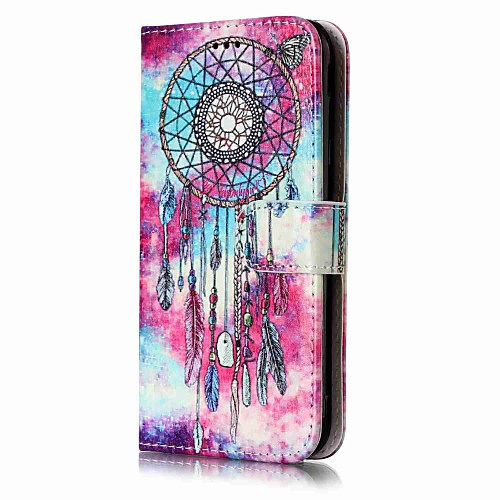 Case For Samsung Galaxy J5 (2017) / J3(2016) Wallet / Card Holder / with Stand Full Body Cases Dream Catcher Hard PU Leather for J7 (2016) / J7 / J5 (2017)