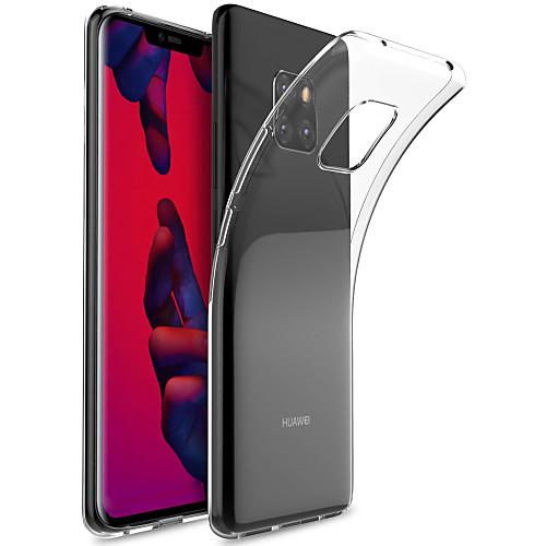 Кейс для Назначение Huawei Huawei Mate 20 Pro / Huawei Mate 20 Прозрачный Кейс на заднюю панель Однотонный Мягкий ТПУ для Mate 10 / Mate 10 pro / Mate 10 lite / Mate 9 Pro фото