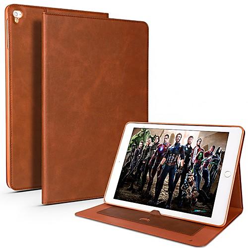 Cooho Кейс для Назначение Apple iPad Pro 10.5 / iPad Pro 9.7 Бумажник для карт / Защита от удара / Защита от влаги Чехол Однотонный Мягкий Кожа PU / ТПУ для iPad Air / iPad 4/3/2 / iPad Mini 3/2/1